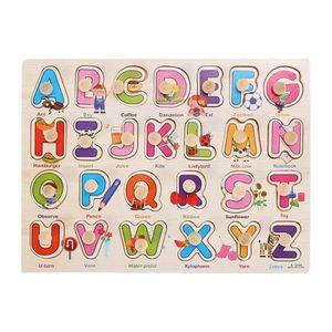 TAPIS PUZZLE en bois alphabet puzzle correspondant jouet Montes