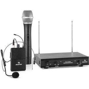 MICROPHONE - ACCESSOIRE auna VHF-2-HS Set sans fil 2 canaux VHF 1x micro-c