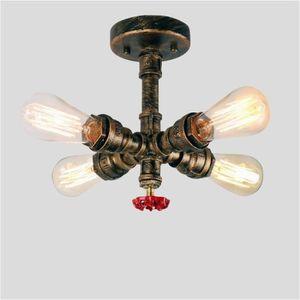 PLAFONNIER EXBON® Vintage Luminaire Plafonnier Industrielle 4