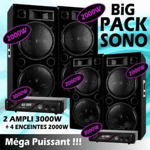 PACK SONO SONO DJ PACK 14 000 WATTS !!! 4 ENCEINTES DOUBLE B