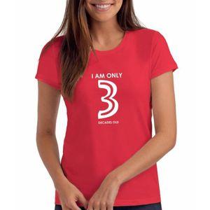 T-SHIRT T-shirt anniversaire de femmes avec message - Je s