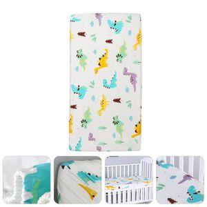 Baby Ajustée Lit bébé Drap Matelas 100/% coton 120x60cm Dinosaures Bleu