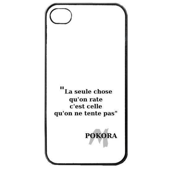 Coque Iphone 4 Et 4s Devise Citation Matt Pokora Achat Coque