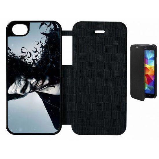 etui rabat flip flap apple iphone 5s joker batman arkham origins!