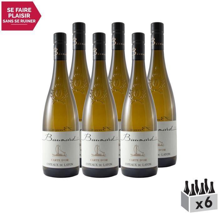 Coteaux du Layon Carte d'Or Blanc 2013 - Lot de 6x75cl - Domaine Baumard - Vin AOC Blanc du Val de Loire - Cépage Chenin