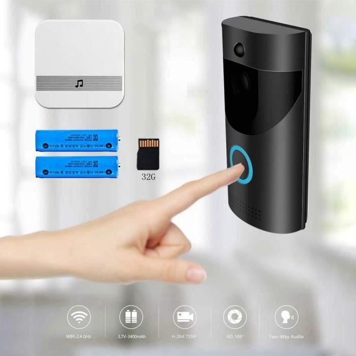 KIT CAMERA DE SURVEILLANCE - PACK VIDEOSURVEILLANCE - Interphone visuel visuel sans fil Wifi Smartphone électronique à distance