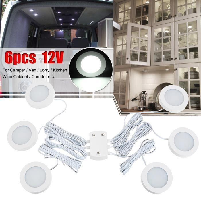 6x 12V Intérieur LED Spot Light Projecteur Pour Camper Van Caravan Camping-car VW T4 T5 Bo47018