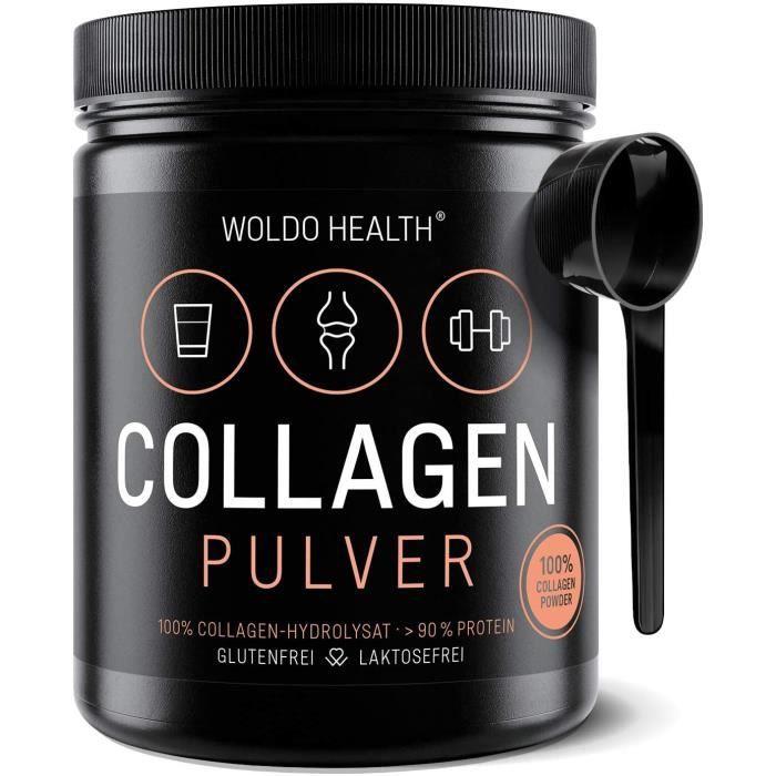 Vitamines, minéraux et compléments Collagène poudre de bœuf Protéine Gelatine – 500g Collagen Hydrolysat Peptides Type I 771519