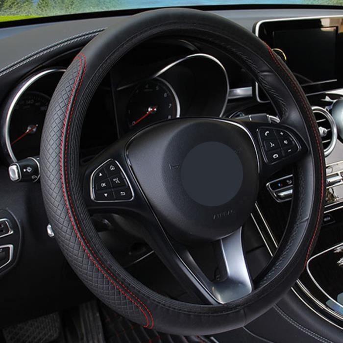 Couvre volant,Housse antidérapante pour volant de voiture, pour siège Leon, Ibiza, cupra, Altea, ceinture de - Type Red thread