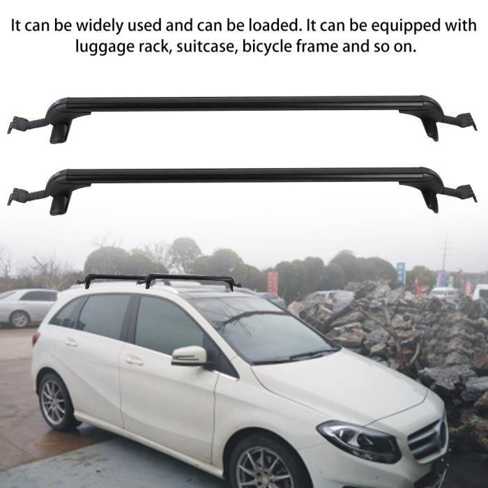 2pcs barres de toit de voiture universel support de toit de bagages en aluminium de voiture avec 2 clés HB069