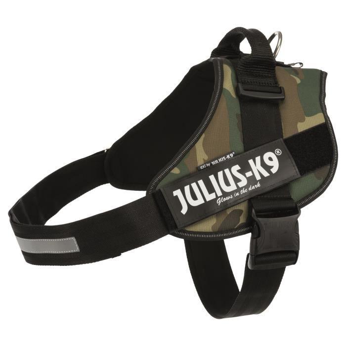 JULIUS K9 Harnais Power IDC 4–XXL : 96–138 cm - 50 mm - Camouflage - Pour chien