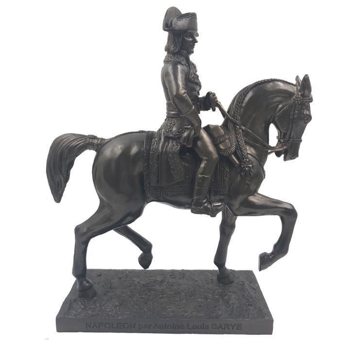 reproduction statue napoléon à cheval par antoine louis barye 21,5/18,5/7,5 cm