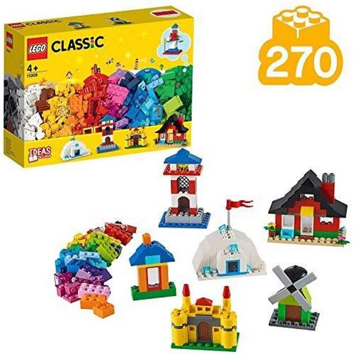 LEGO 11008 Classic Briques et maisons Ensemble de construction, Jouets préscolaires pour enfants de 4 ans et plus avec 6 1100