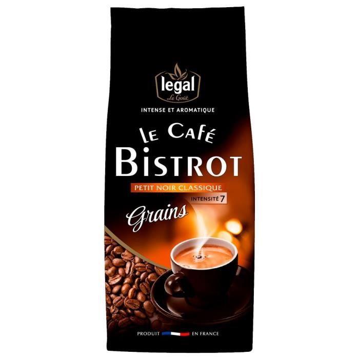 LEGAL Cafés Bistrot Petit Noir Grains - 250 g