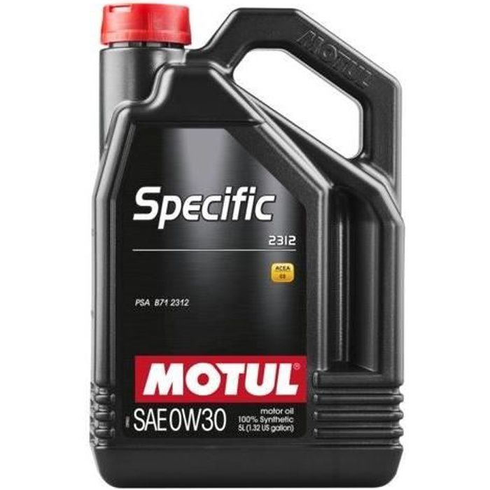 MOTUL Huile SPECIFIC 2312 0W30 5L (bidon)