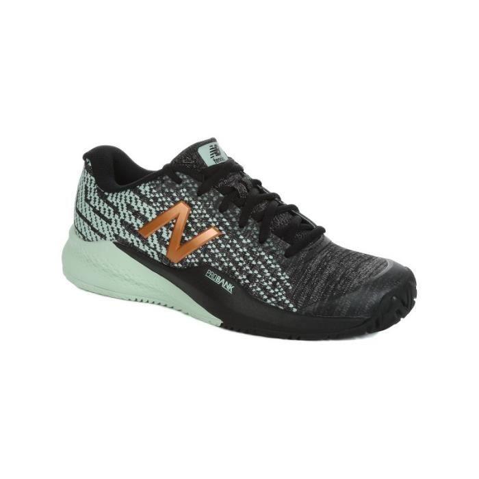 Chaussures NEW BALANCE Femme WC996 V3 Noir / Vert / Or PE 2018