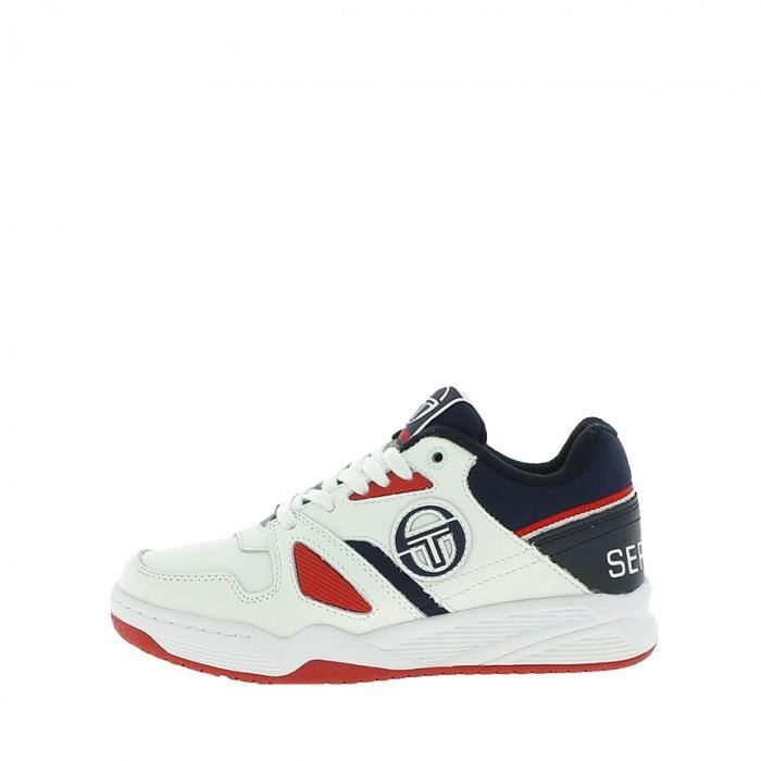 Basket Sergio Tacchini TOP PLAY LTHR - Ref. STM822005-WHITE-NAVY-RED