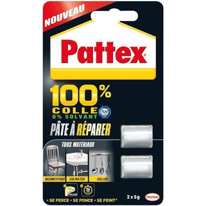 Pattex colle 100% pâte à réparer 2x5g