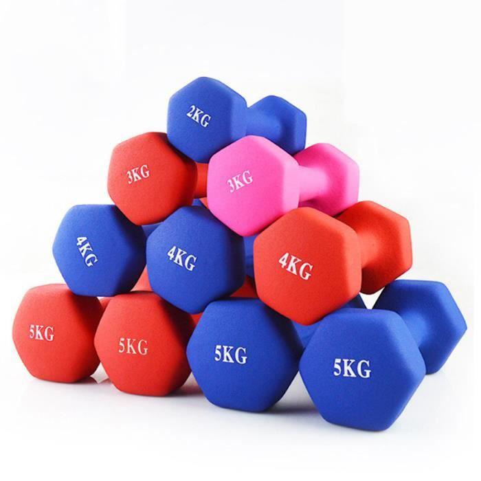 Haltères de fitness hexagonale haltère amincissant l'équipement de remise pour femmes-Couleur aléatoire