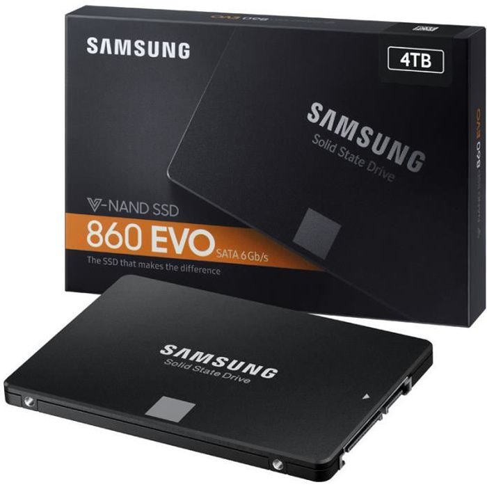 SAMSUNG - Disque SSD Interne - 860 EVO - 4To - 2,5\