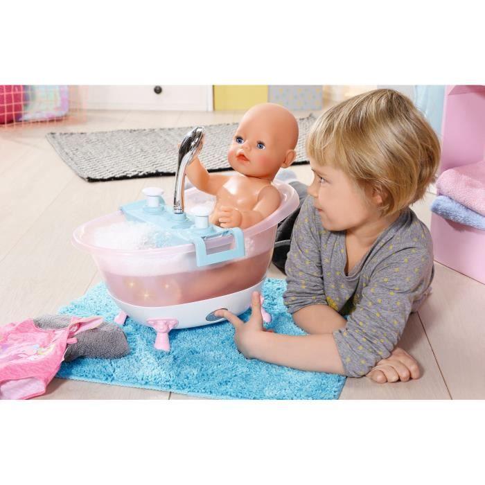 BABY BORN Baignoire Intéractive avec Pomme de Douche
