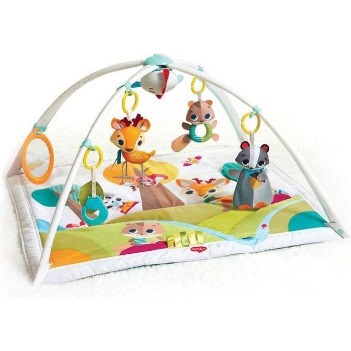 TINY LOVE Tapis de jeu luxe Gymini Into the Forest, avec arches amovibles et jouet musical