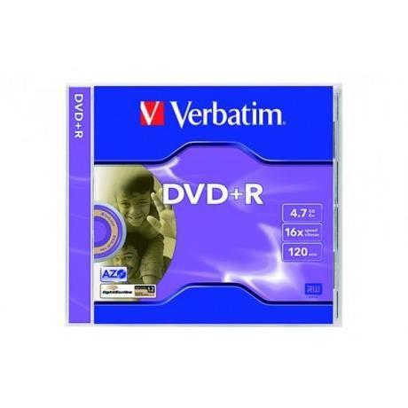 Boite de 5 DVD+R 4.7GB 16x - VERBATIM