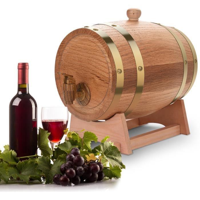Fontaine à boisson Distributeur avec robinet Tonneau de vin 3L HB017