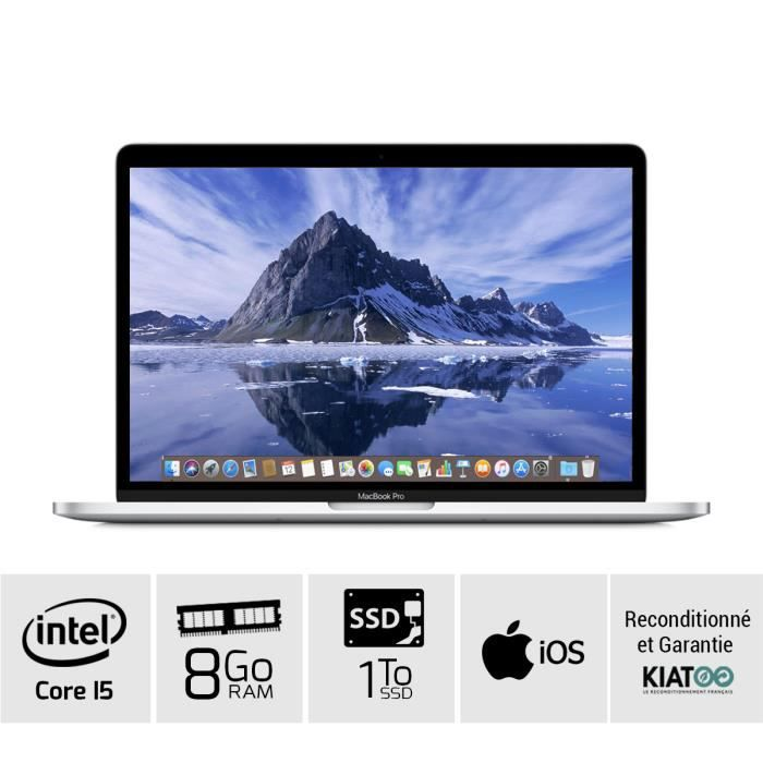 ORDINATEUR PORTABLE MACBOOK PRO 13 pouces Gris core i5 8 go ram 1 To S