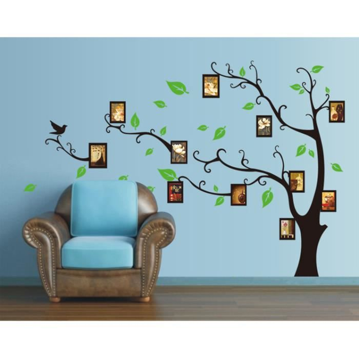 grand cadre photo arbre creative stickers muraux amovibles. Black Bedroom Furniture Sets. Home Design Ideas
