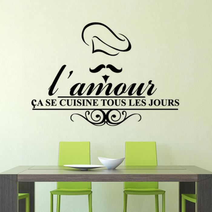cr ative dessin anim stickers muraux pour cuisine d coration la maison achat vente. Black Bedroom Furniture Sets. Home Design Ideas