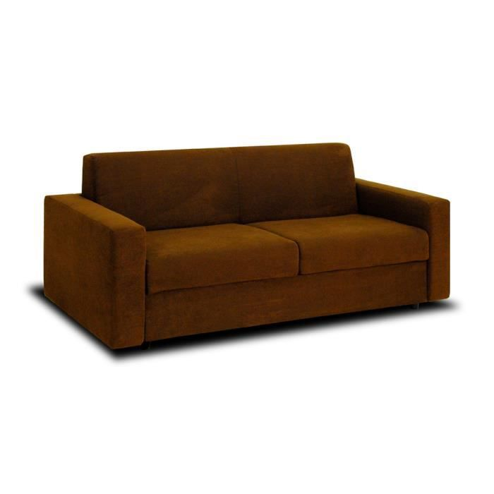 Canap convertible manitoba 3 places chocolat achat vente canap sofa - Canape convertible 7 places ...