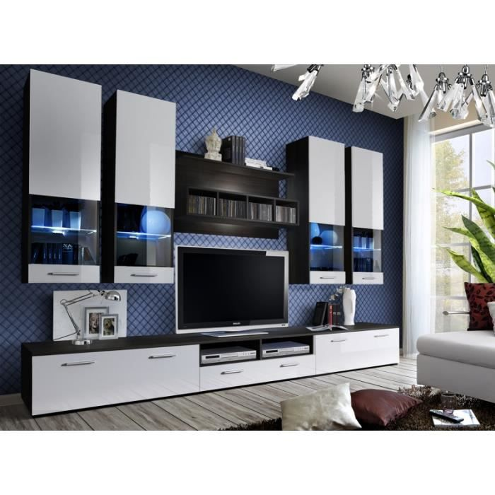 Meuble de salon tv design complet mesh led achat vente meuble tv meuble - Meuble salon complet ...