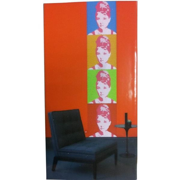 Decor mural adhesif audrey hepburn achat vente for Decor mural adhesif
