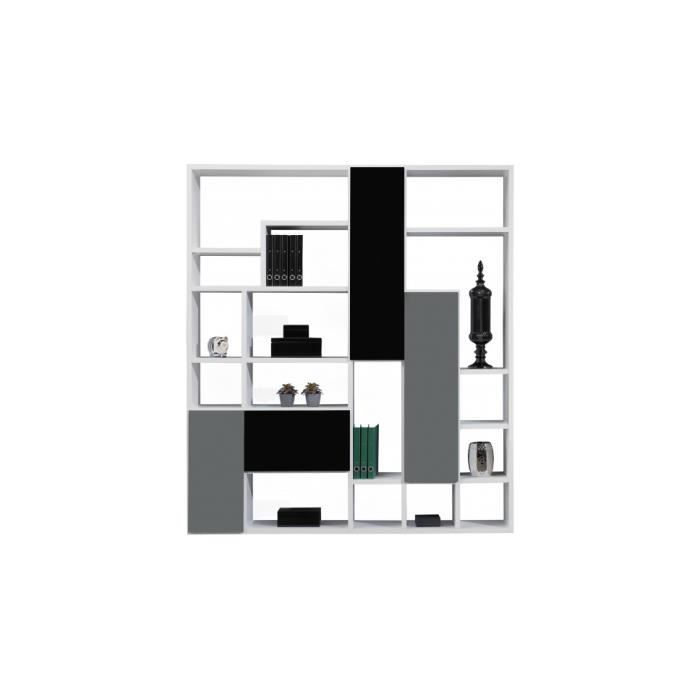 Etag re design destructur e laque brillante 4 portes - Meuble etagere design ...