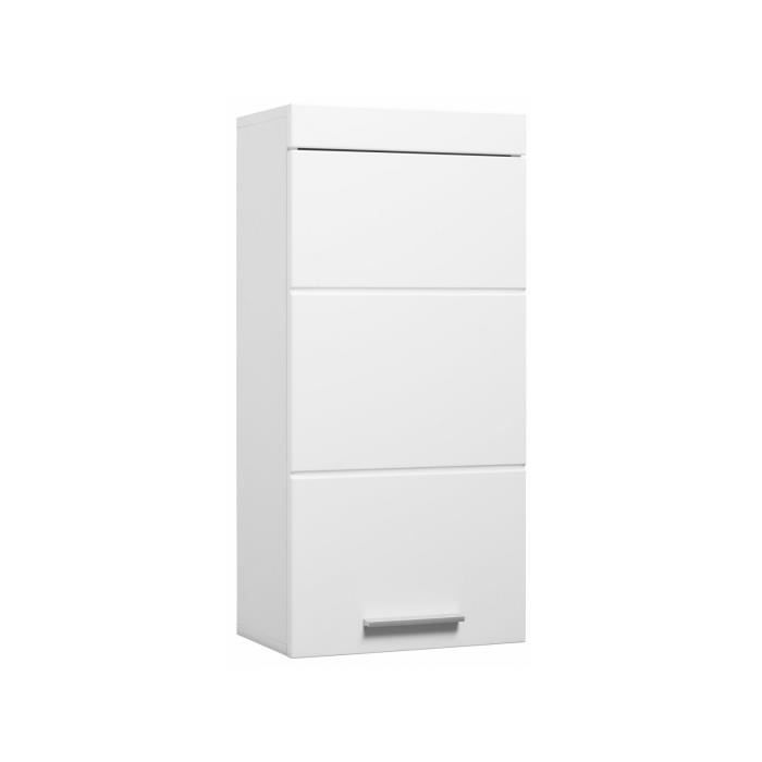 armoire murale pour salle de bain 77 cm coloris blanc p 31101 co blanc achat vente colonne. Black Bedroom Furniture Sets. Home Design Ideas