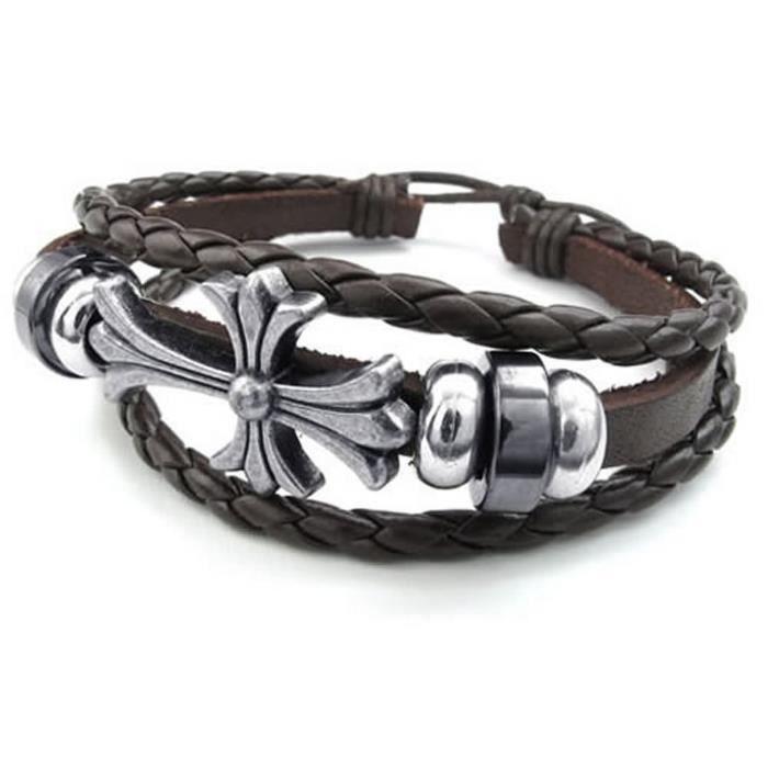bracelet cuir homme celte