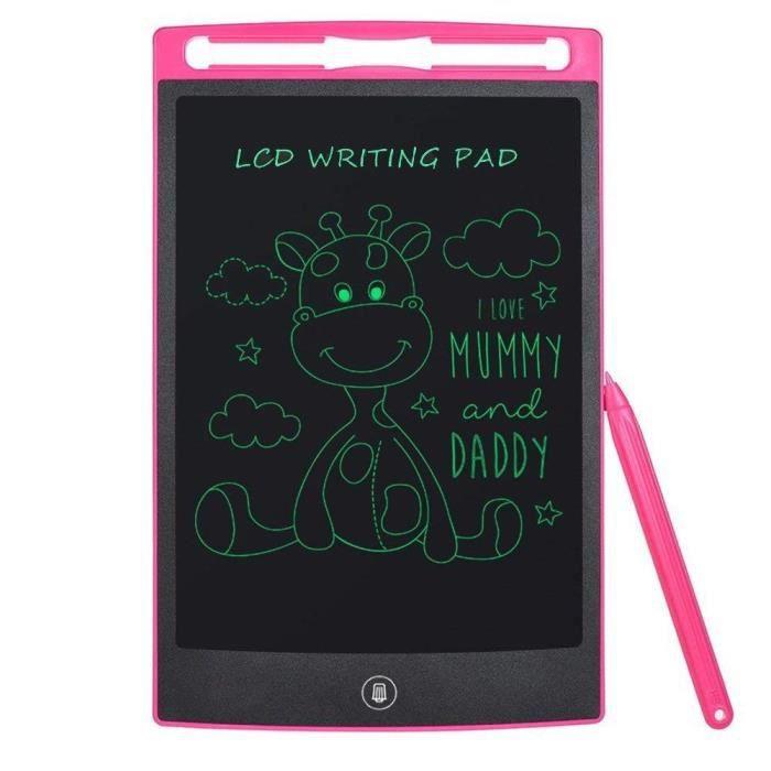 LCD Tablette D\'écriture, Ardoise Magique Tableau portable pour l\'écriture  et le dessin sans papier pour enfants et adultes(Rose,8.5\