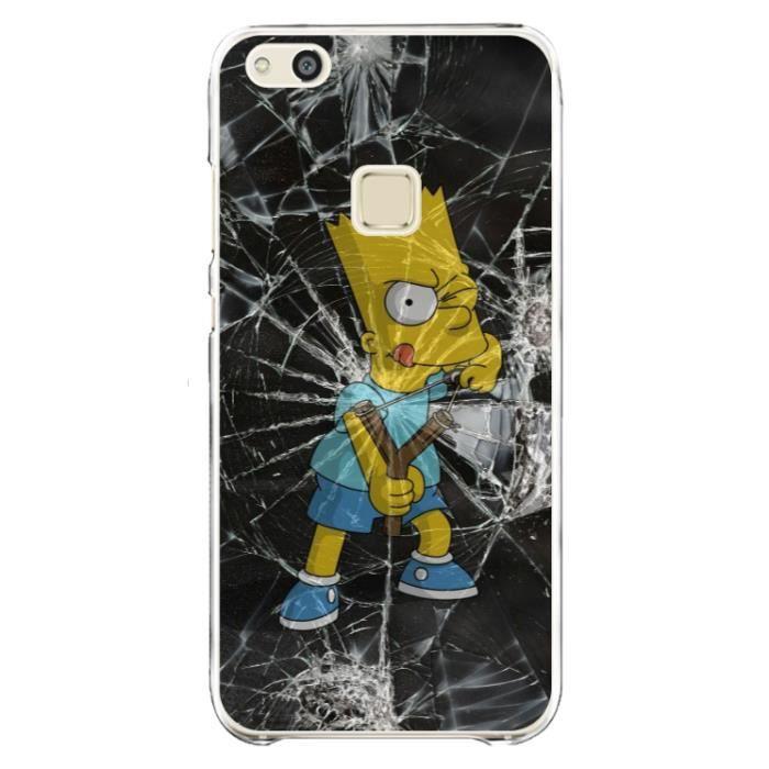 Coque Huawei P10 Lite - Bart Simpson - dessin animé - accessoire téléphone - coque de protection