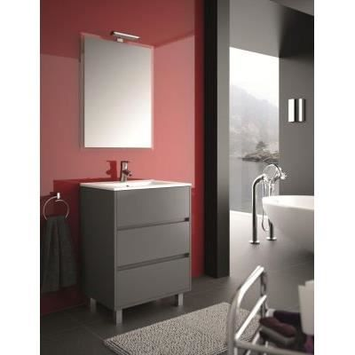 meuble salle de bain 60 cm couleur gris achat vente. Black Bedroom Furniture Sets. Home Design Ideas
