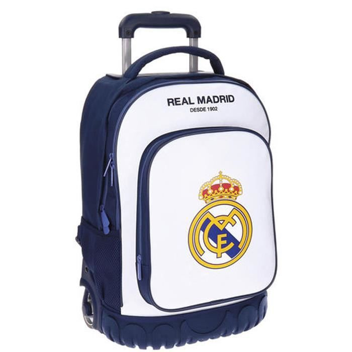 7a91526040 REAL MADRID - Cartable trolley XXL BLANC 50cm Real Madrid Club ...