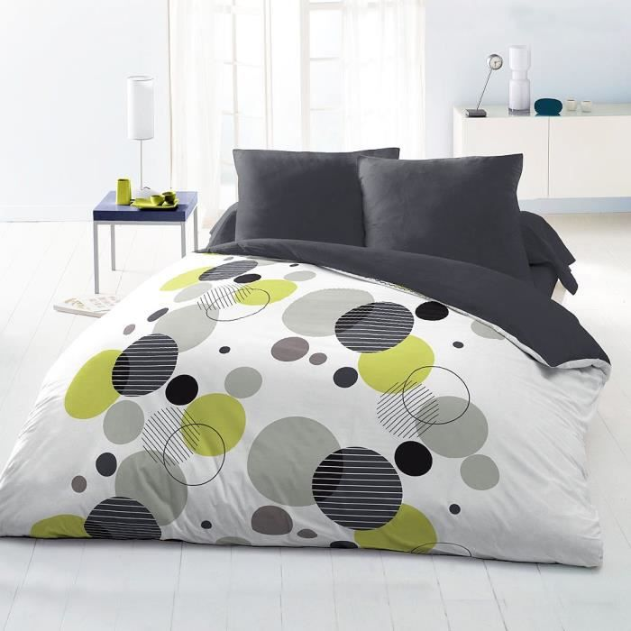parure de couette 220x240 microfibre bulle 220x240 gris. Black Bedroom Furniture Sets. Home Design Ideas
