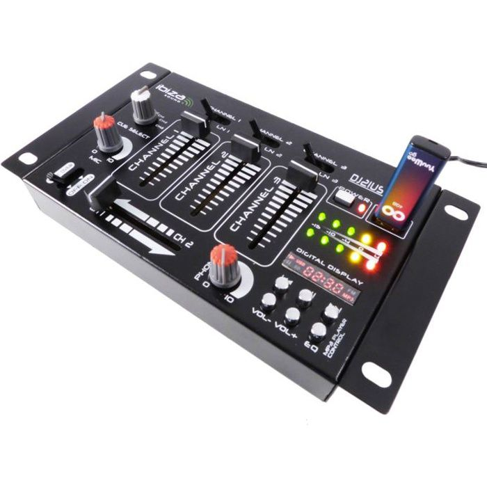 table de mixage 4 voies 7 entr es dj21usb mk2 table de mixage avis et prix pas cher cdiscount. Black Bedroom Furniture Sets. Home Design Ideas