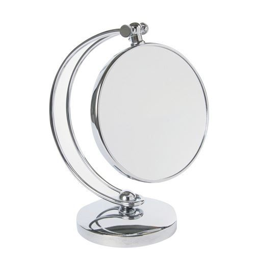 Miroir pivotant double face m tal achat vente miroir for Miroir double face