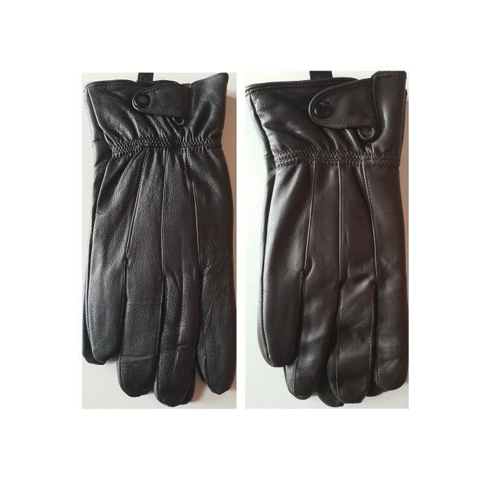 100/% Noir Cuir Véritable Gants Pour Femme Tailles S à XL