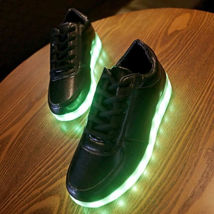 hommes femmes chaussures led lampe lacets chaussures couple chaussures pour enfant usb charge. Black Bedroom Furniture Sets. Home Design Ideas