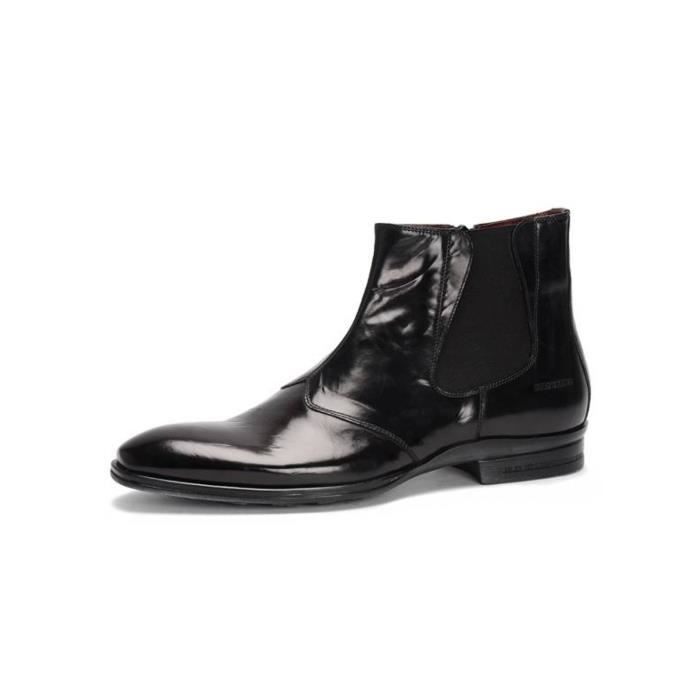 Zami cuir Homme Achat city bottine Noir Vente en Boots vym0OnwN8