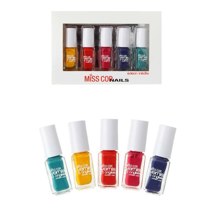 coffret vernis ongles multicolore achat vente coffret de manucure coffret vernis. Black Bedroom Furniture Sets. Home Design Ideas