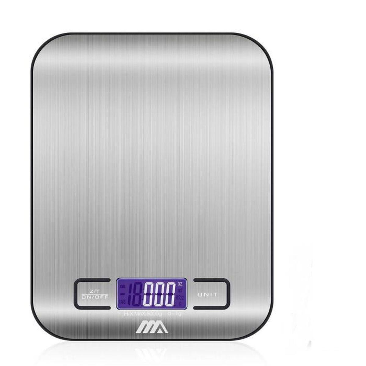 Balance de Cuisine Houzetek Balance de Cuisine Electronique en Acier INOX LCD