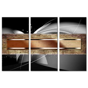 TABLEAU - TOILE Tableau Déco Triptyque Contemporain Projectiles -